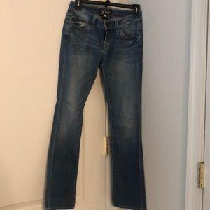 Lucky Brand bootcut jeans light denim size 0 short